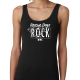 Rescue dogs rock women's black tank top