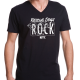 Rescue dogs rock black v-neck t-shirt