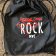 Rescue dogs rock drawstring bag
